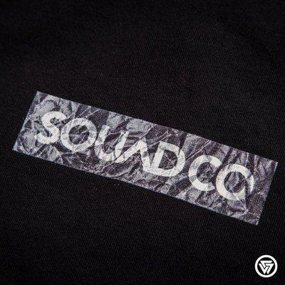 (MARVELOUS) SQUAD 2016 S/S BOX LOGO 長版T-Shirt 皺褶 黑色/白色