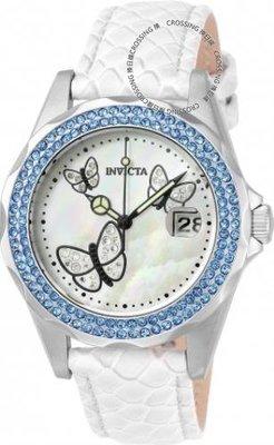 展示品 Invicta 23549 Angel Quartz Crystal Accents Mother of Pearl White Women'