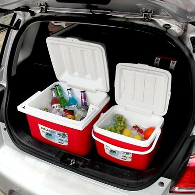 行動冰箱-保溫箱便攜家用保鮮車載釣魚戶外保溫箱外賣冰激凌冰桶