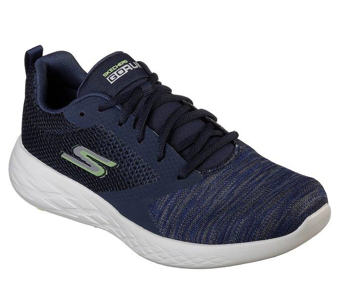 SKECHERS Go Run600 Reactor 藍灰 編織 網布 慢跑鞋 男 55081NVGR【SP】