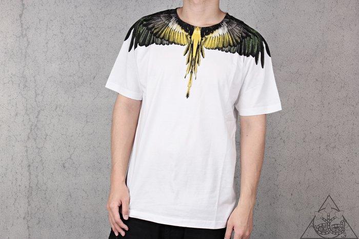 【HYDRA】Marcelo Burlon Yellow Green Wings Tee 翅膀 羽毛 短T【MB27】