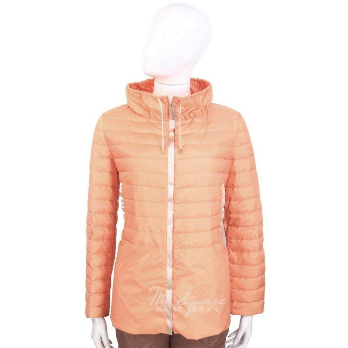 米蘭廣場 FABIANA FILIPPI 粉橘色車縫設計抽繩立領羽絨外套 1420105-39 44號
