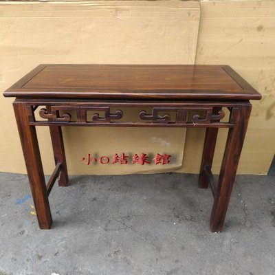 小o結緣館仿古傢俱..106牛角玄關桌.書桌.藝品桌電腦桌106x48x81(雞翅木)