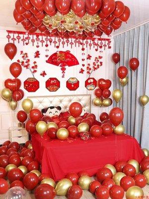 氣球 婚房佈置 開業裝飾 節慶裝飾 生日派對創意婚房裝飾女方新娘臥室結婚氣球套裝浪漫婚禮用品大全新房布置