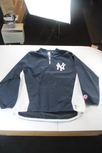NY Yankees  #65 Phil Hughes Home Long Sleeve Wind Breaker 風衣 XL