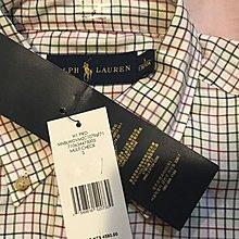 RALPH LAUREN POLO 格子襯衫 全新正版 男版 S號 長袖 100%棉 免運