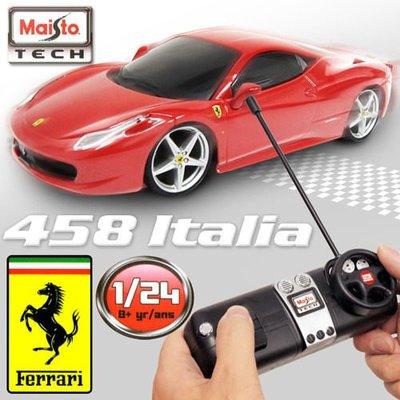 法拉利 FERRARI 458 Italia 《1/24 》無線遙控模型車。原廠授權商品。NCC許可商品