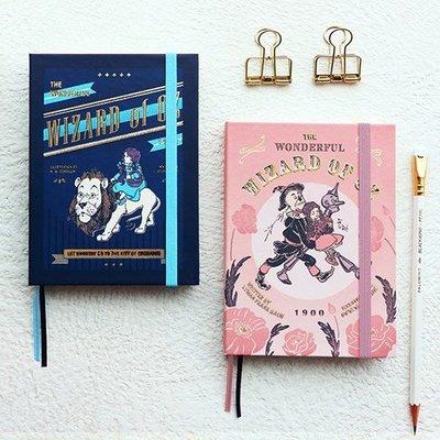 ❅PAVEE❅ 韓國7321~Wizard OZ Diary v.33 綠野仙蹤 萬年版 硬封面燙金手帳行事曆日誌