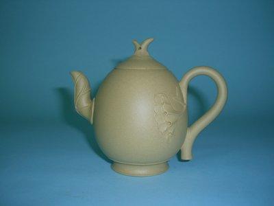 (三包)中國宜興工藝美術師范春鋒220CC荷葉蓮藕段泥紫砂壺