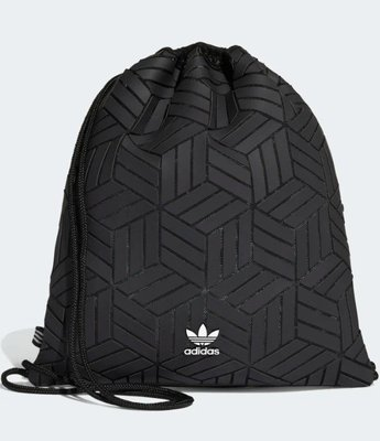 》P.S 》ADIDAS ORIGINALS 3D GYM SACK 黑 三宅 束口袋 後背包 DV0200
