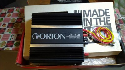 美國製造ORION 240 GX後極AB類放放大80W rms擴大機