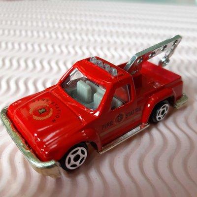 玩具汽車 金屬模型_ 紅色消防車 Fire Station