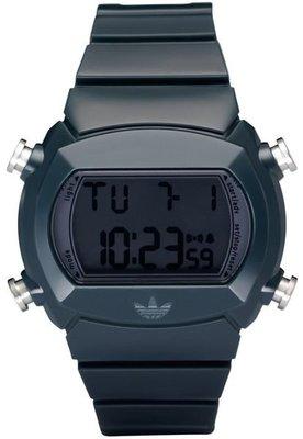 【adidas - ADH 6065】全新正品 輕量化 運動型 電子錶 名錶 手錶 / 藍綠色【防水50米】51g 瑕疵
