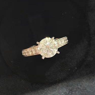 專櫃正品 CARTIER 卡地亞 18K白金 1.23克拉 F VS1 3EX 鑽石戒指(特價福利品!優惠出清換現金)