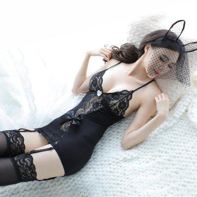 性感蕾絲情趣內衣透視裝女用品激情套裝緊身三點式開檔制服小胸騷