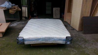 【安鑫】~白色5尺標準雙人【5X6.2尺】緹花布獨立筒彈簧床墊~超值二手價!【A455】