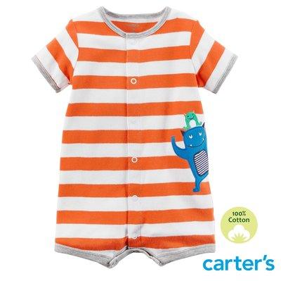 美國童裝 Carter's 春夏新款【100%純棉】男童 開扣連身衣 短袖連身衣-調皮小怪獸