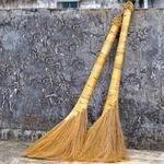【蘆葦掃把-九層寶頂款-6*40*95cm-2把/套-1套/組】木地板專用植物鬃毛掃把長手柄-38009