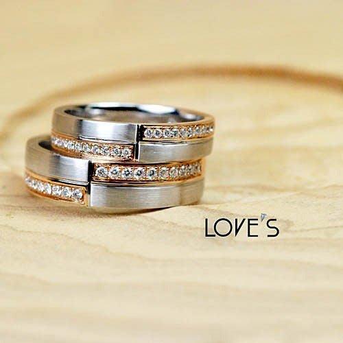 【LOVES鑽石批發】浪漫巴黎系列-WEDDING BANDS精緻對戒-婚戒推薦-AA0140.141-另售GIA LOVES DIAMOND