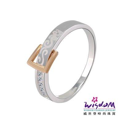 威世登時尚珠寶  扣住真愛K金戒指 對戒系列 女戒 KA00039G-ABXXX