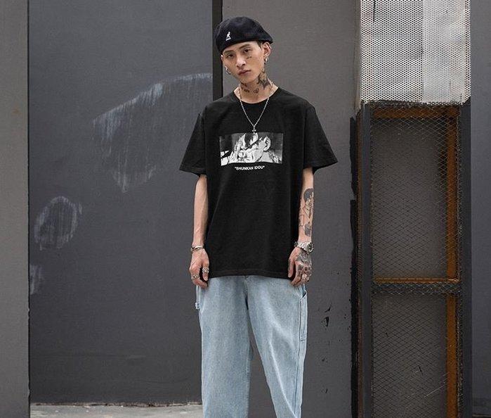 【NoComment】日系街頭潮流七龍珠印花圖案短T 黑白兩色 STUSSY APE