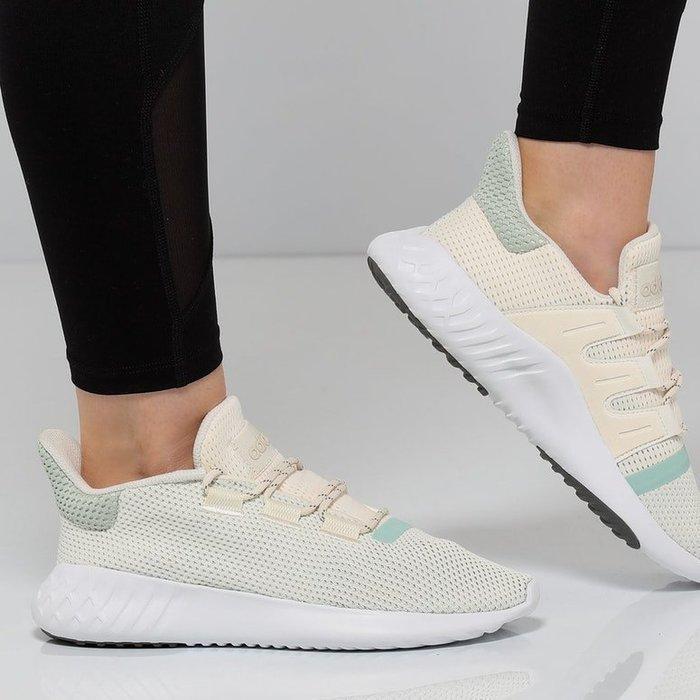 [Roen羅恩代購] Adidas Tubular Dusk 黃昏小椰子系列 女慢跑鞋 灰白湖水綠