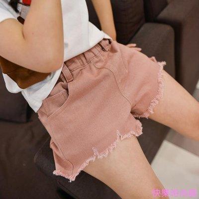 夏裝潮純色新款韓版女童休閒牛仔短褲中大童兒童時尚熱褲子