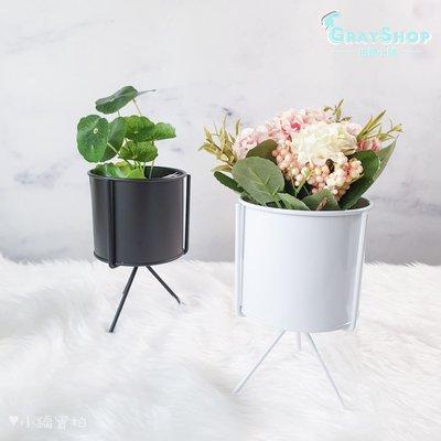 北歐風 簡易幾何鐵藝花器 黑白《GrayShop》鐵製花架 攝影道具 拍照道具 居家擺飾 裝飾 鐵製花瓶 《格蕾小舖》