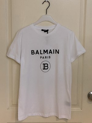 全新  Balmain short-sleeved logo print T-shirt全新 14Y 現貨一件