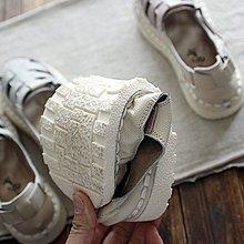 2018自制手工牛皮復古鏤空編織涼鞋森女牛皮軟底文藝學院涼鞋