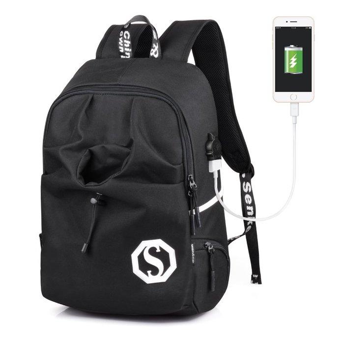 SX千貨鋪-韓版背包電腦包休閑雙肩包女高中學生書包男士青年旅行包時尚潮流#男士背包#書包#單肩包#書包