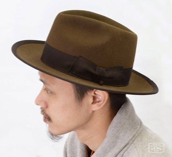 GOODFORIT / 日本H.W.DOG POINT-H 三凹淚滴補風手毛料紳士帽/三色