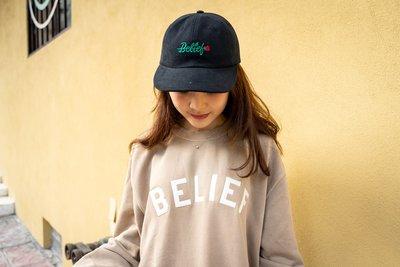 【A-KAY0】BELIEF 男女 ROSE CAP 老帽 玫瑰 黑【BLF18FWRCBK】