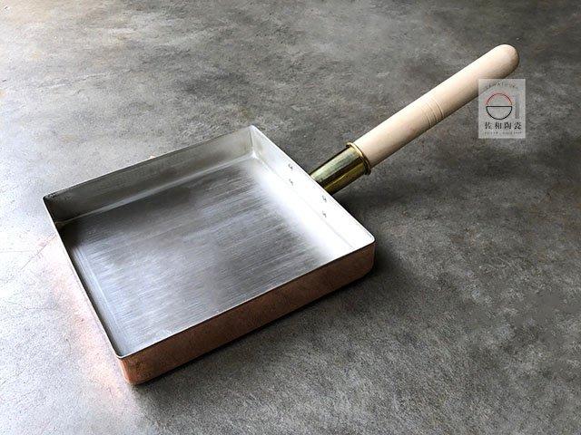 +佐和陶瓷餐具批發+【90B02392 日製22cm玉子燒-銅(兔玉燒)】玉子燒 廚房餐具 銅製品 兔玉燒