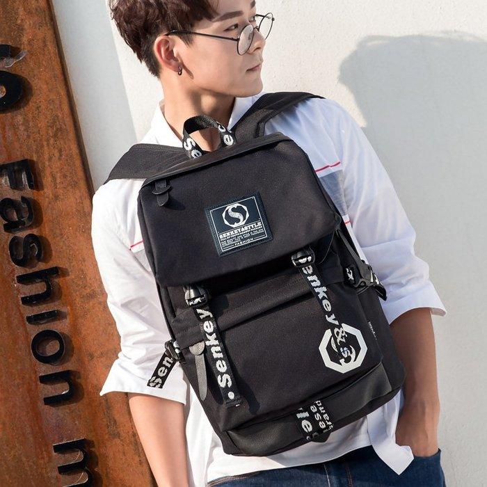 SX千貨鋪-新款包包韓版背包雙肩包女帆布休閑高中大學生書包男大容量旅行包#男士背包#書包#單肩包#書包