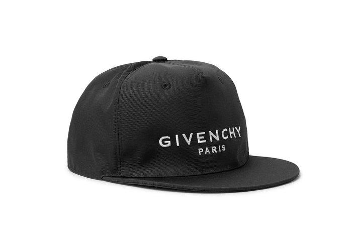 [全新真品代購-F/W18 新品!] GIVENCHY 刺繡LOGO 黑色 帽子 / 棒球帽