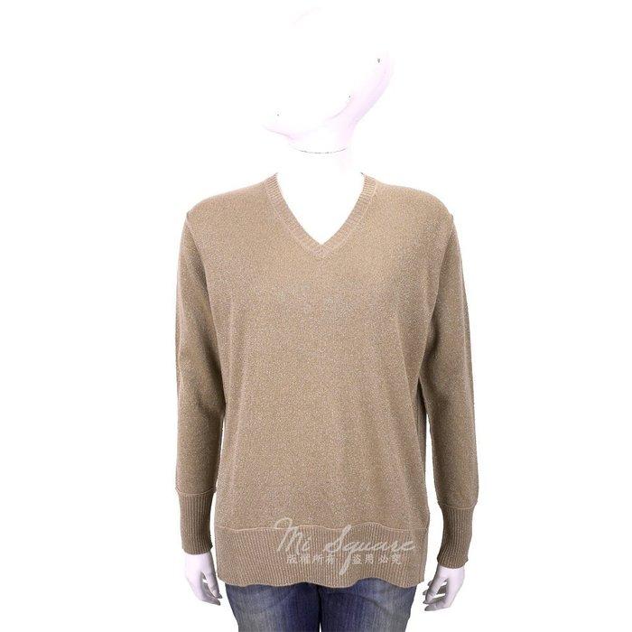 米蘭廣場 ALLUDE 喀什米爾側3D剪裁大地棕針織羊毛衫 1740225-02