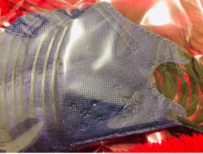 BNNxMask  萬聖節限定版闇黑藍 US兒童系列 立體四層兒童黑色耳帶口罩10入