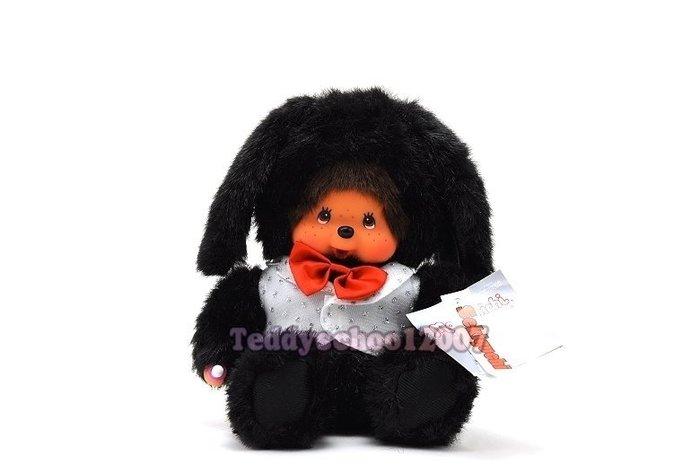 ☆☆╮泰迪學園╭☆☆  日本Sekiguchi夢奇奇MONCHHICHI【紳士兔】黑色