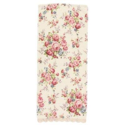 ~~凡爾賽生活精品~~全新日本進口優雅玫瑰花造型純棉大毛巾~日本製