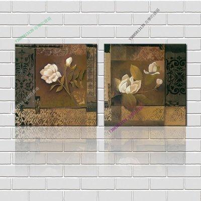 【50*50cm】【厚2.5cm】印象花卉-無框畫裝飾畫版畫客廳簡約家居餐廳臥室牆壁【280101_176】(1套價格)