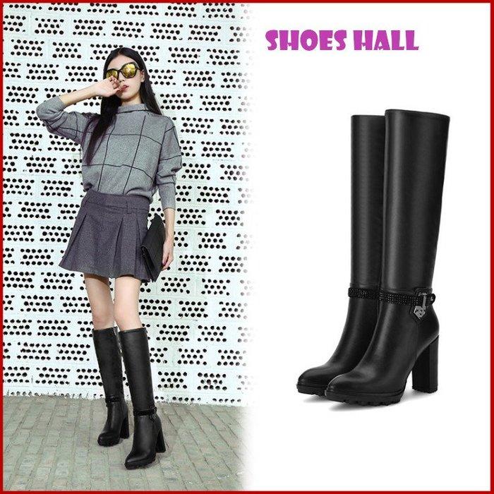 鞋館Shoes hall【S96002】時空戀人光澤星耀長靴~黑色