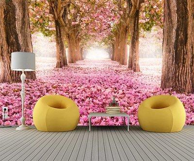 客製化壁貼 店面保障 編號F-120 粉紅櫻花林 壁紙 牆貼 牆紙 壁畫 星瑞 shing ruei