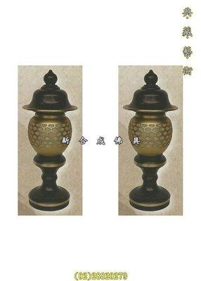 新合成佛具 LED 7寸黑金色銅製神社燈 另有8寸,1尺,1尺3,1尺6 佛燈 供燈 神明燈 心經燈 佛櫥