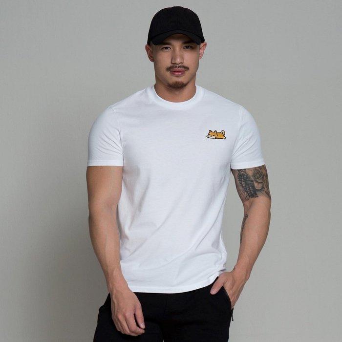 【OTOKO Men's Boutique】巡:小柴犬修身TEE/白色/狗狗(全球獨家販售)