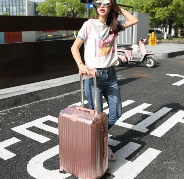 行旅箱  拉桿箱20旅行箱學生密碼箱包韓版小清新萬向輪男女行李箱