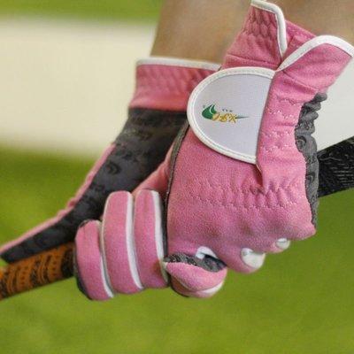 加長高爾夫手套女士雙手防曬超纖布透氣魔術貼防滑耐磨球童手套