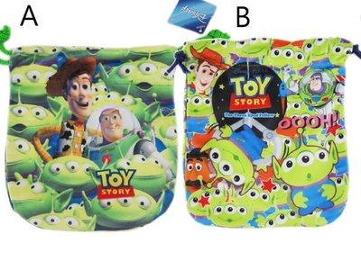 【卡漫迷】 玩具總動員 三眼怪 束口袋 ㊣版 Alien Toy Story 相機包 零錢包 收納袋 手機袋 /款