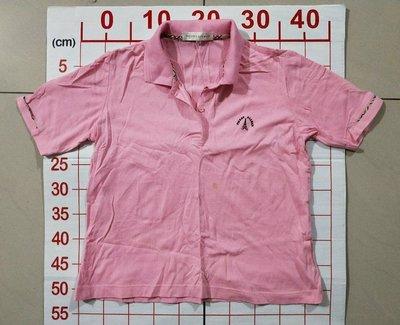 【二手衣櫃】PIERRE BALMAIN PB 粉紅色短袖休閒Polo衫 短袖POLO衫 翻領polo衫 1080130
