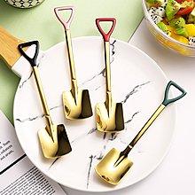 鏟子餐具 鏟子勺 304不鏽鋼 餐具 湯匙 小湯匙 銀色湯匙 黑色湯匙 金色湯匙 玫瑰金湯匙 環保餐具 旅行餐具
